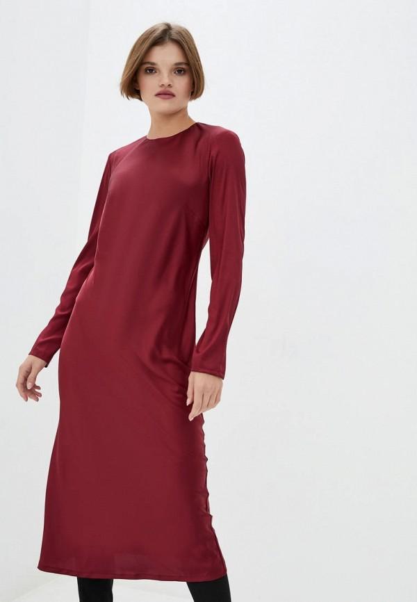 женское вечерние платье jhiva, бордовое