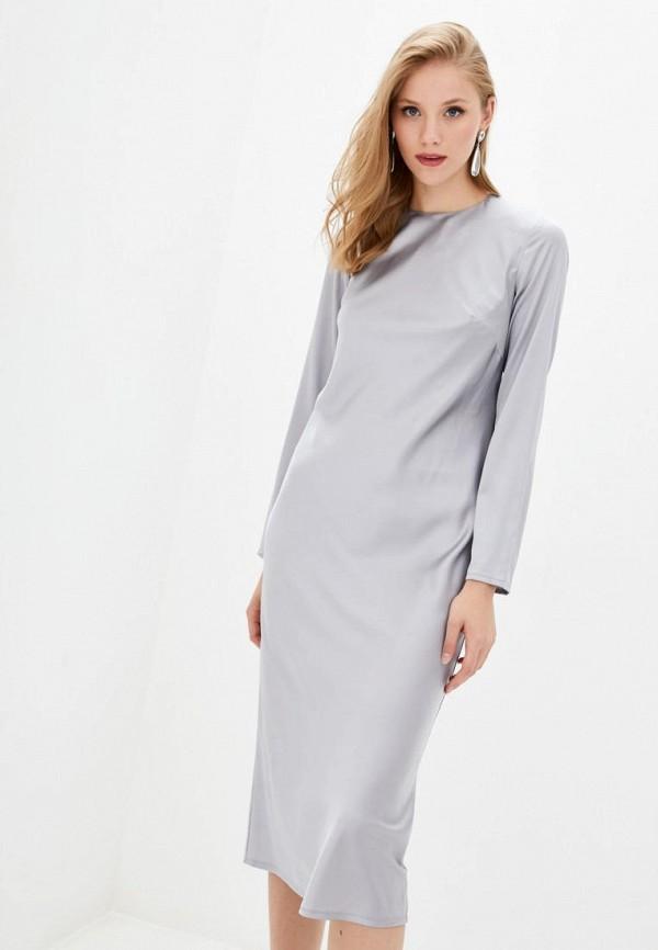 женское вечерние платье jhiva, серое