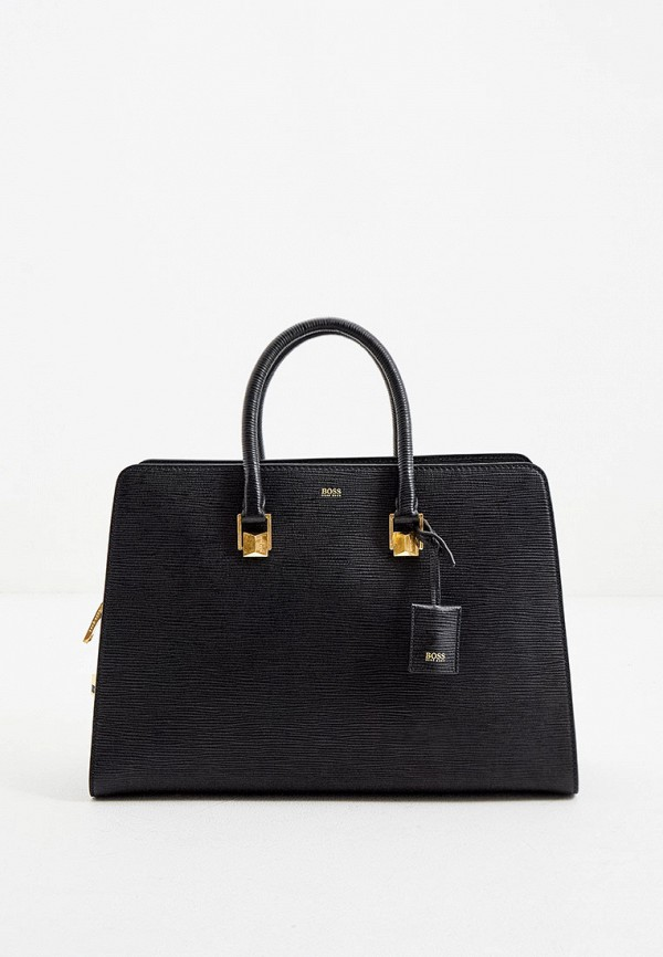 женская сумка с ручками boss, черная