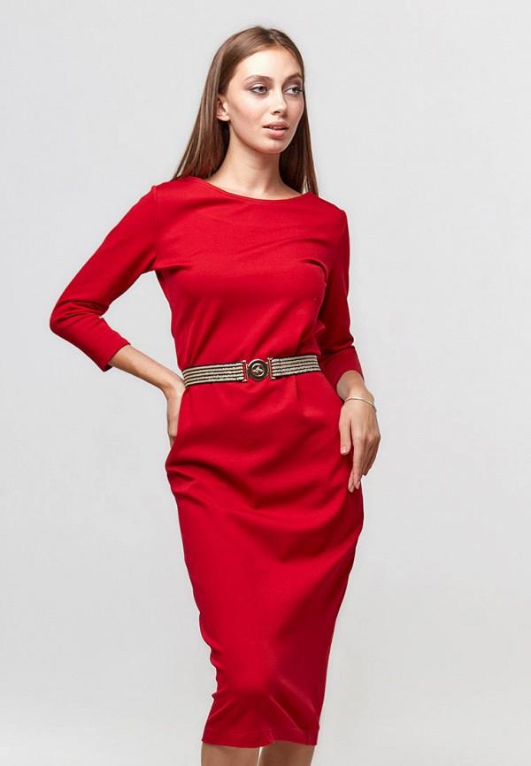 женское платье-футляр ora, красное