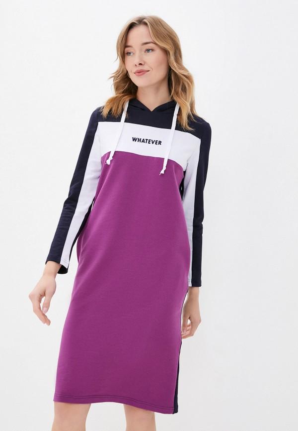 женское платье-толстовки viserdi, фиолетовое