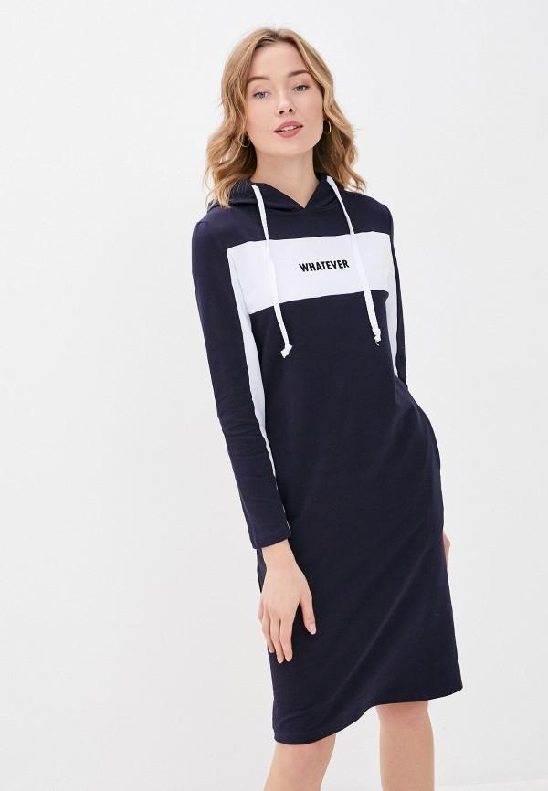 женское платье-толстовки viserdi, синее