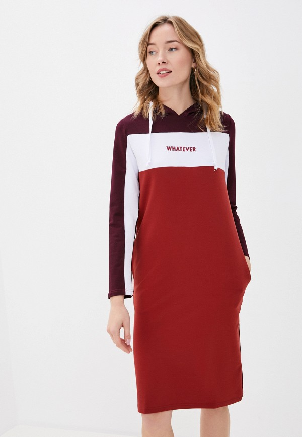 женское платье-толстовки viserdi, бордовое