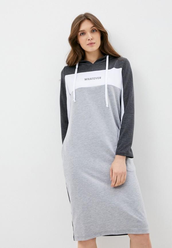 женское платье-толстовки viserdi, серое
