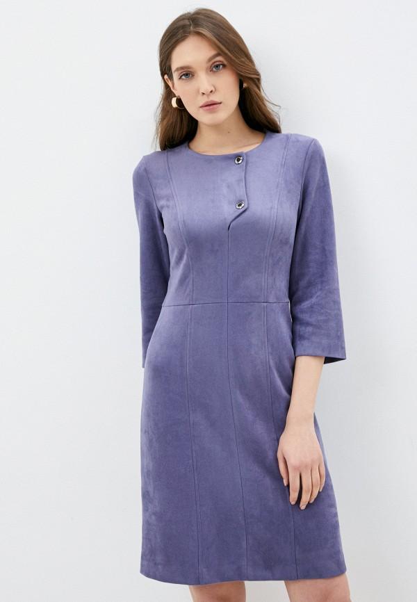 женское кожаные платье viserdi, фиолетовое