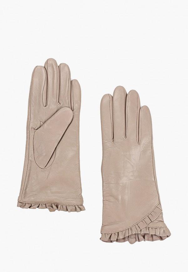 женские кожаные перчатки vitacci, серые