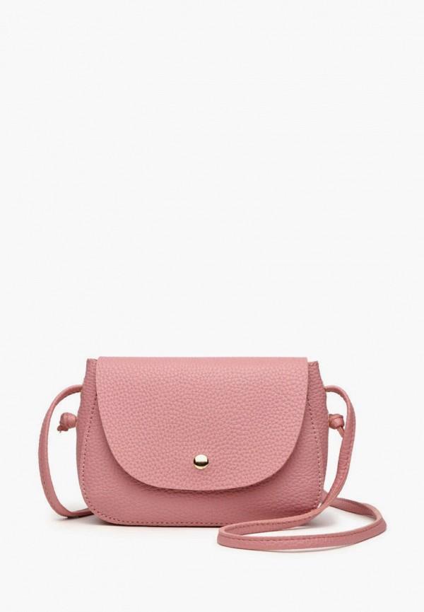 женская сумка через плечо dda, розовая