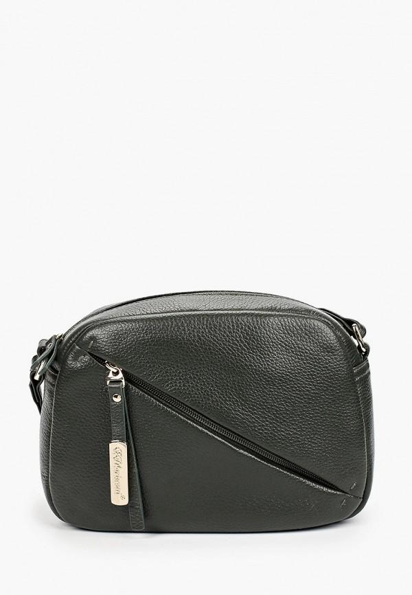 женская сумка через плечо franchesco mariscotti, хаки