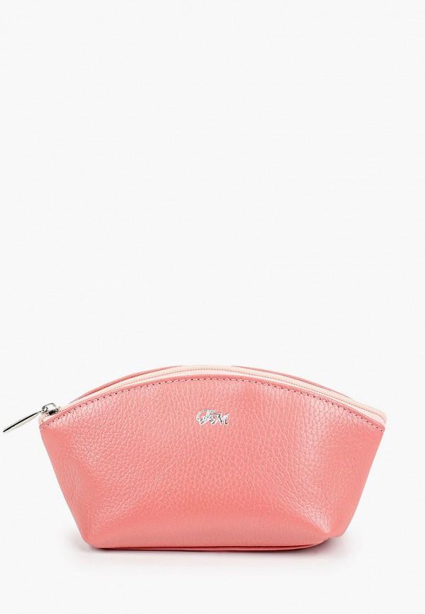 женская косметичка franchesco mariscotti, розовая