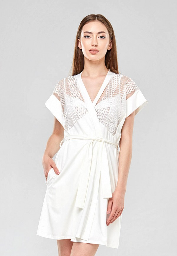 женский халат ora, белый