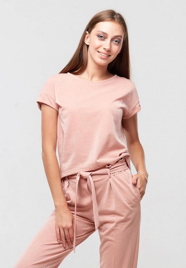 женская футболка ora, розовая