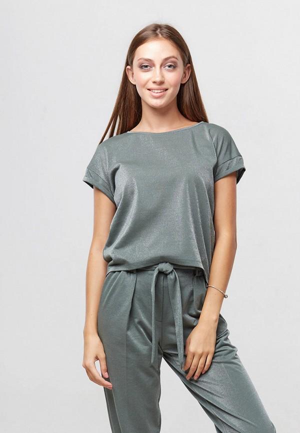 женская футболка ora, бирюзовая