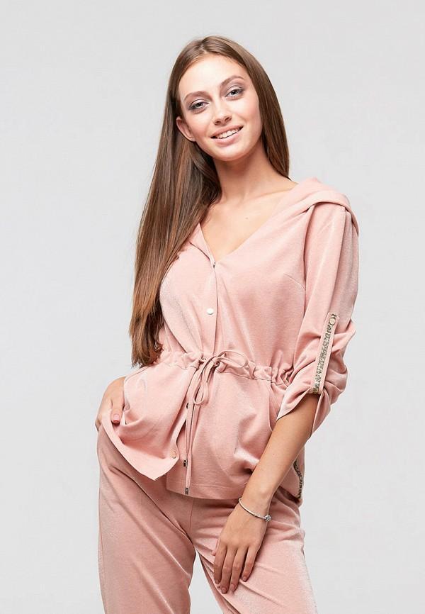 женская блузка ora, розовая