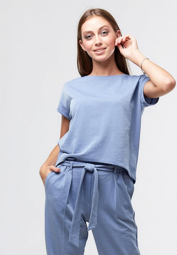 женская футболка ora, голубая
