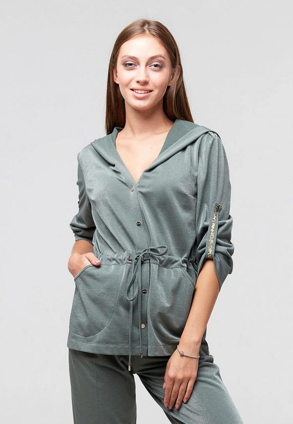 женская блузка ora, бирюзовая