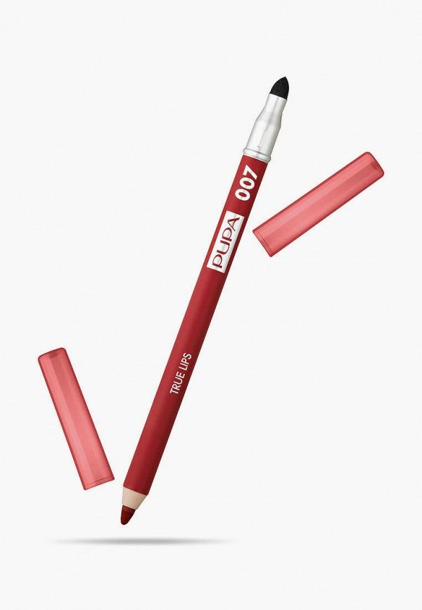 женский карандаш для губ pupa, красный