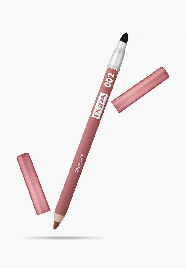 женский карандаш для губ pupa, розовый