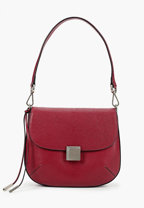 женская сумка с ручками eleganzza, бордовая