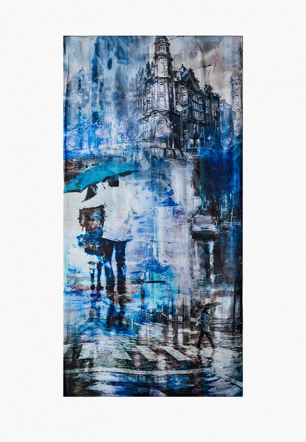 женский платок eleganzza, синий