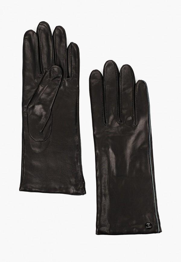 женские кожаные перчатки eleganzza, черные
