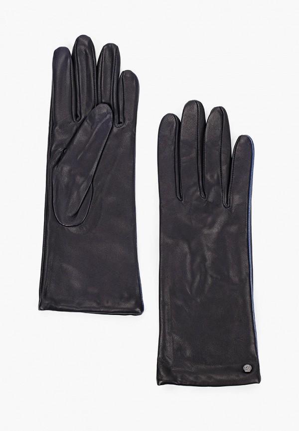 женские кожаные перчатки eleganzza, синие