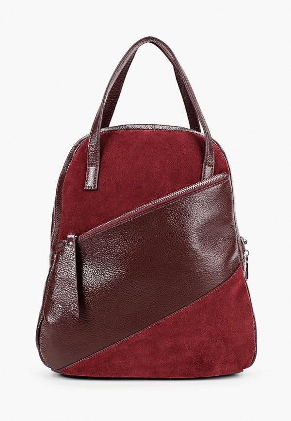 женский рюкзак alessandro birutti, бордовый