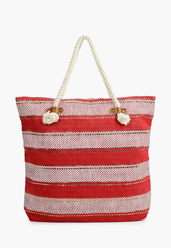 женская пляжные сумка модные истории, красная