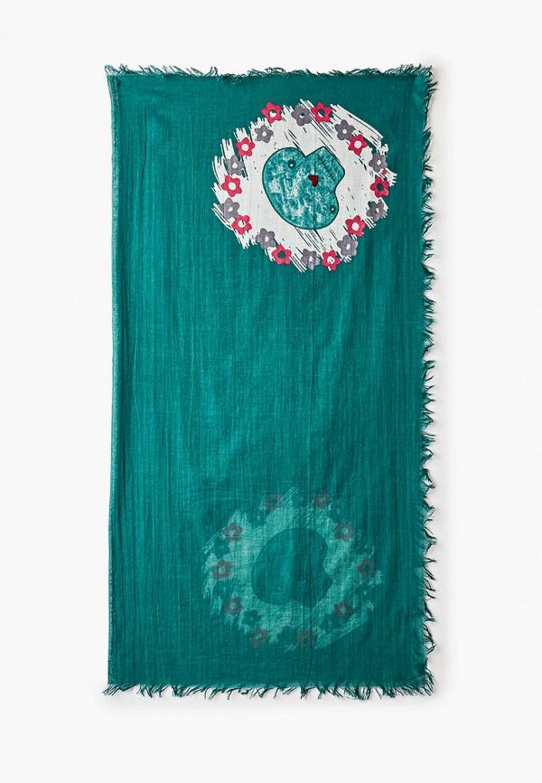 женский платок модные истории, зеленый