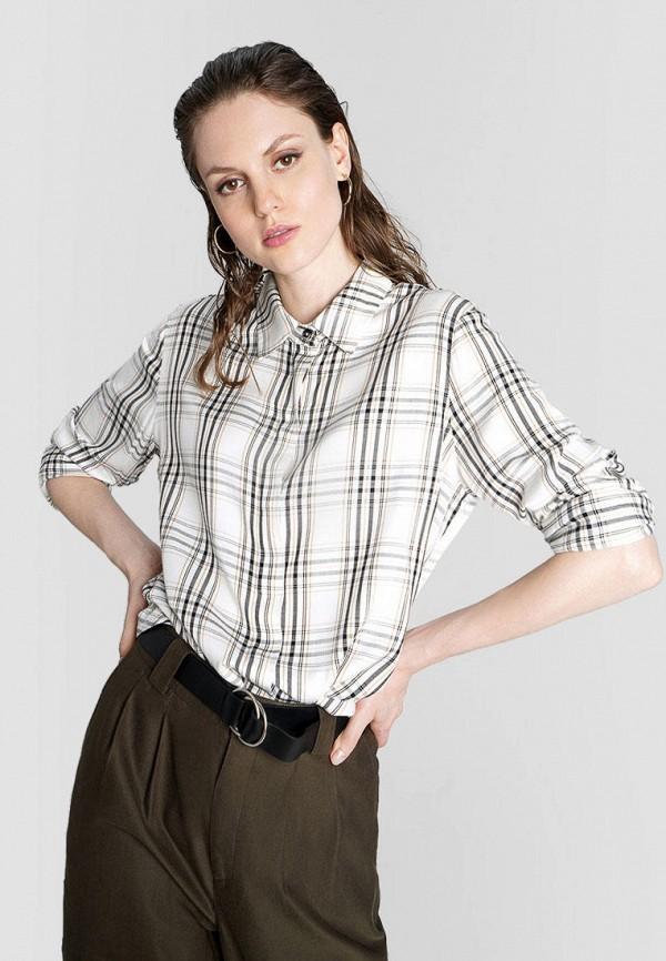 женская рубашка с длинным рукавом o'stin, бежевая
