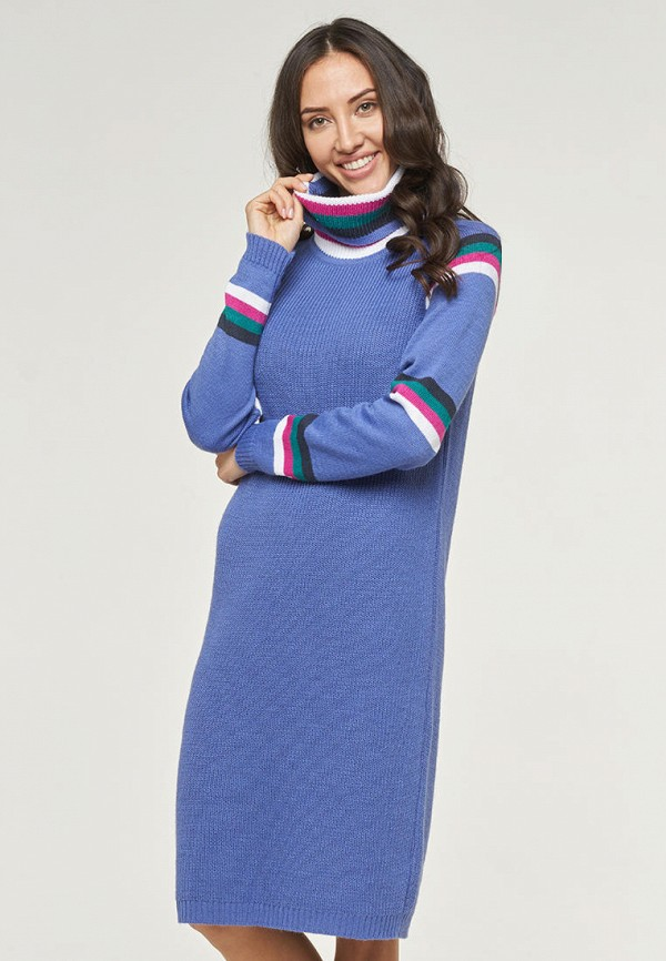 женское платье-свитеры vay, голубое