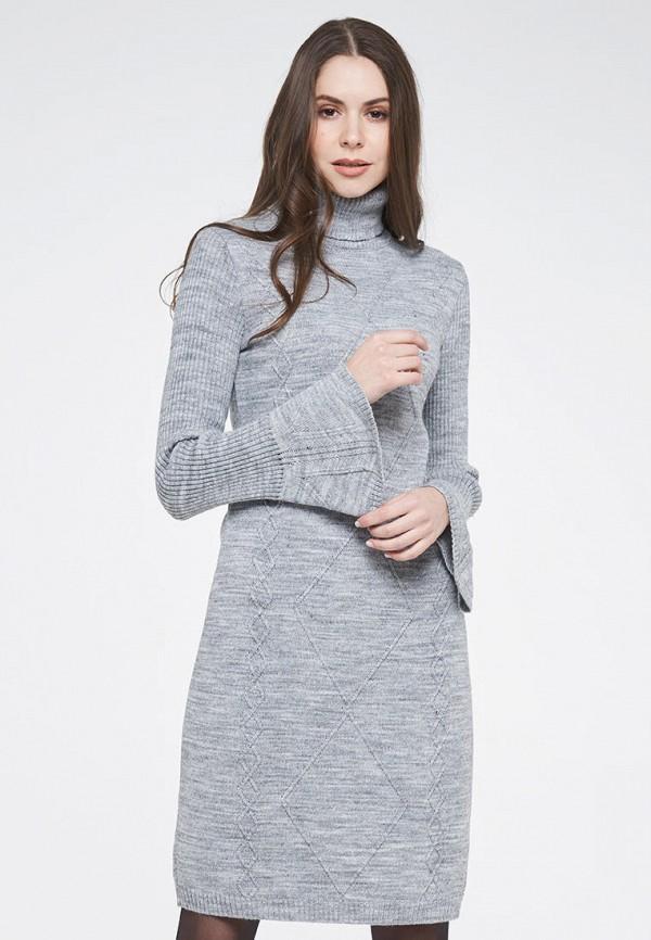 женское платье-свитеры vay, серое