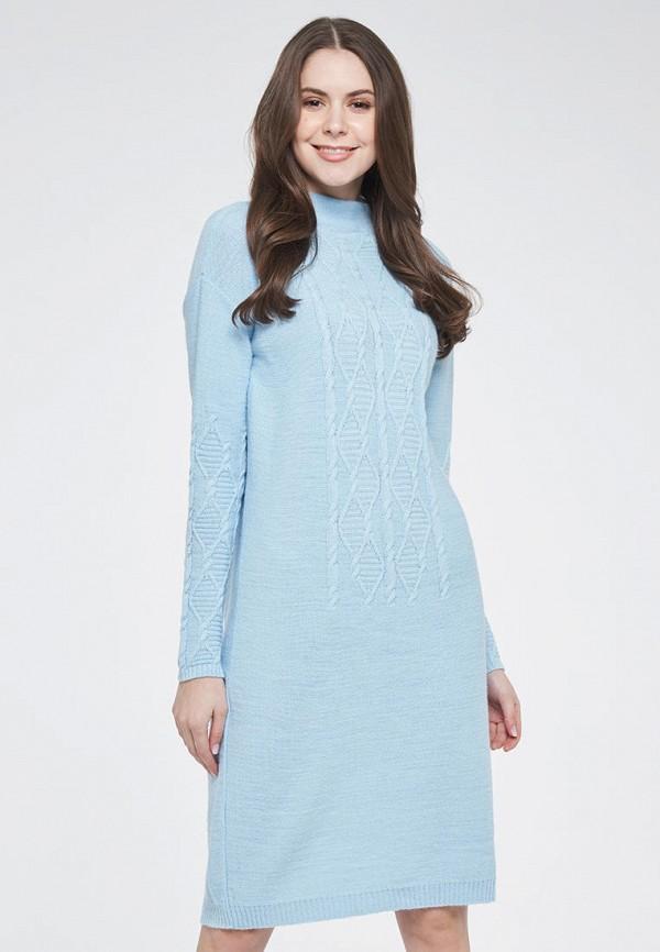 женское повседневные платье vay, голубое