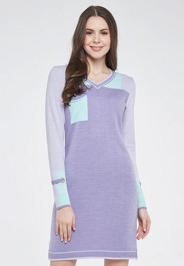 женское повседневные платье vay, фиолетовое