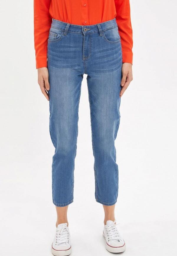 женские прямые джинсы defacto, синие