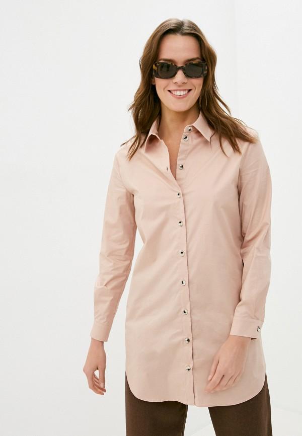 женская рубашка с длинным рукавом ruxara, бежевая
