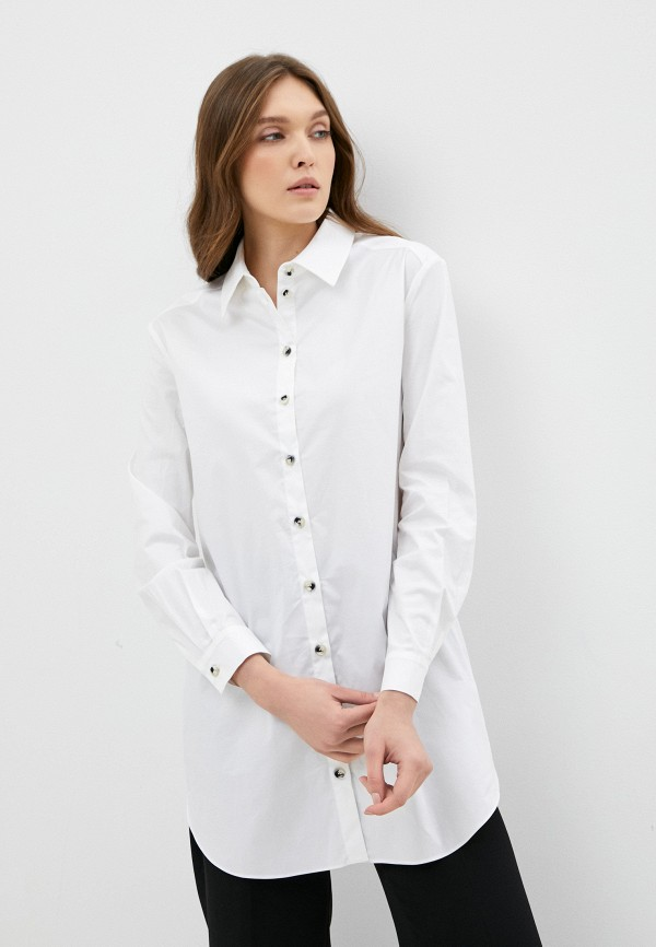 женская рубашка с длинным рукавом ruxara, белая