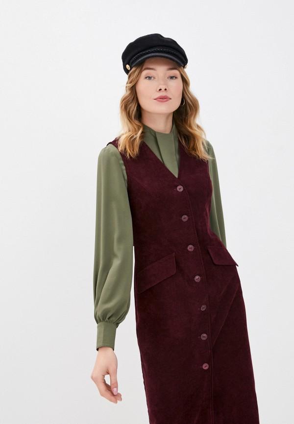 женское повседневные платье viserdi, бордовое