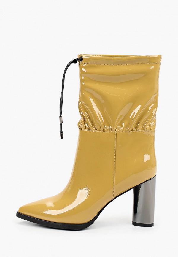 женские полусапожки graciana, желтые