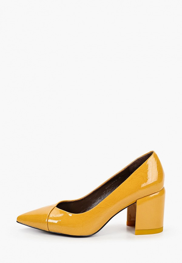 женские туфли с закрытым носом graciana, желтые