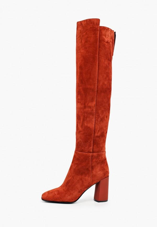 женские ботфорты graciana, оранжевые