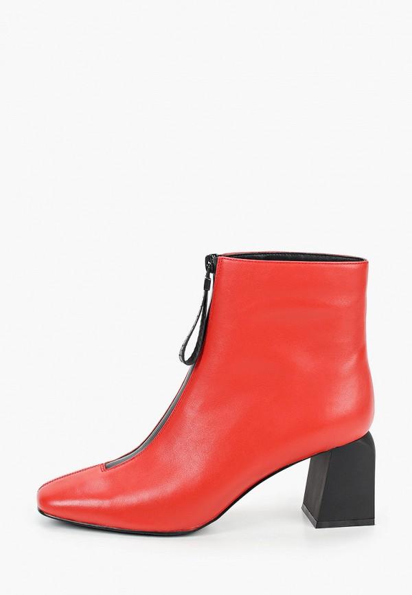 женские высокие ботильоны graciana, красные
