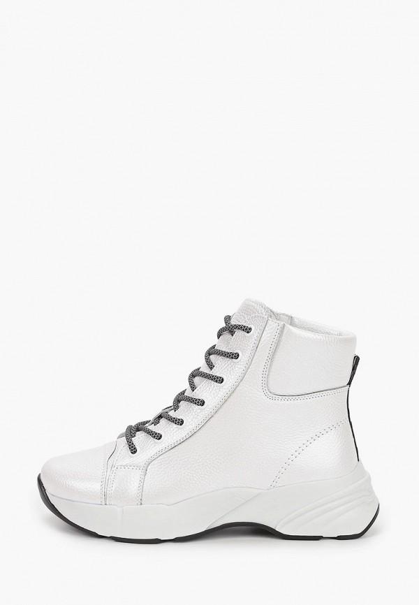 женские высокие ботинки ed'art, белые