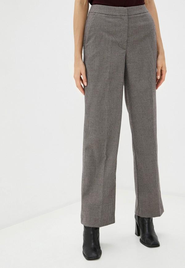 женские классические брюки vilatte, коричневые