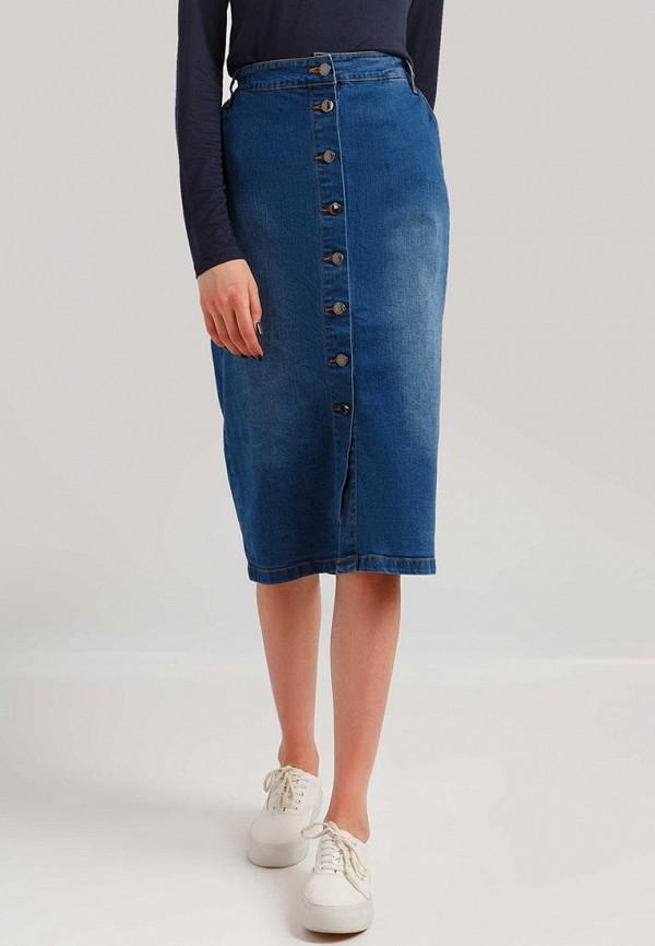 женская джинсовые юбка finn flare, синяя