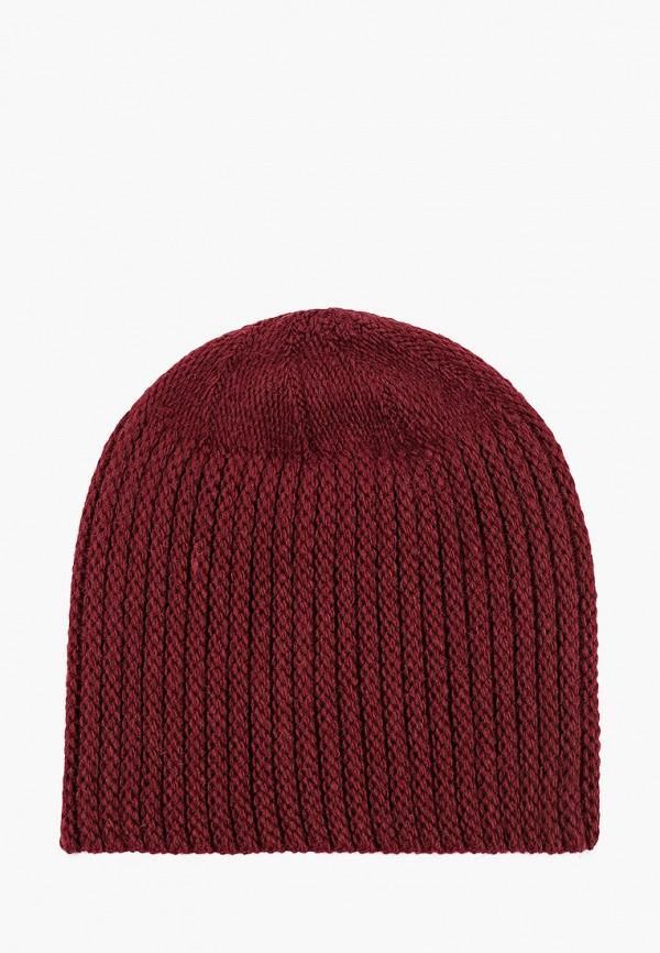 женская шапка self made, бордовая