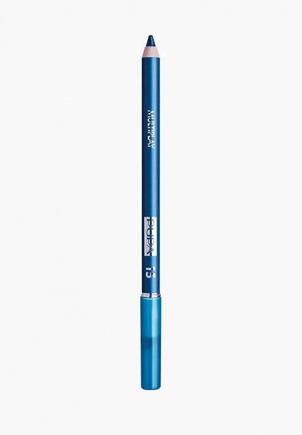 женский карандаш для глаз pupa, бирюзовый
