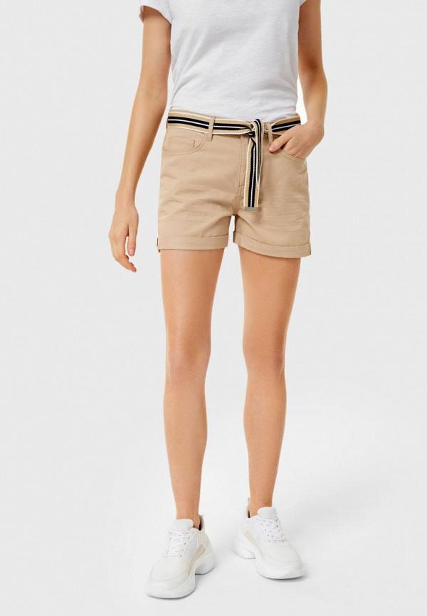 женские повседневные шорты o'stin, бежевые