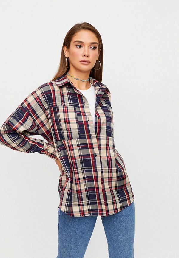 женская рубашка с длинным рукавом karree, разноцветная