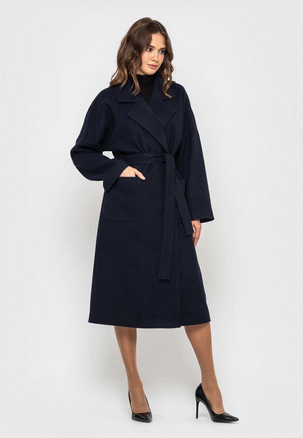 женское пальто sfn, синее