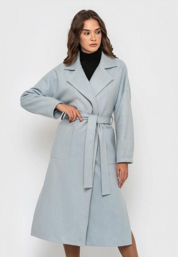 женское пальто sfn, голубое